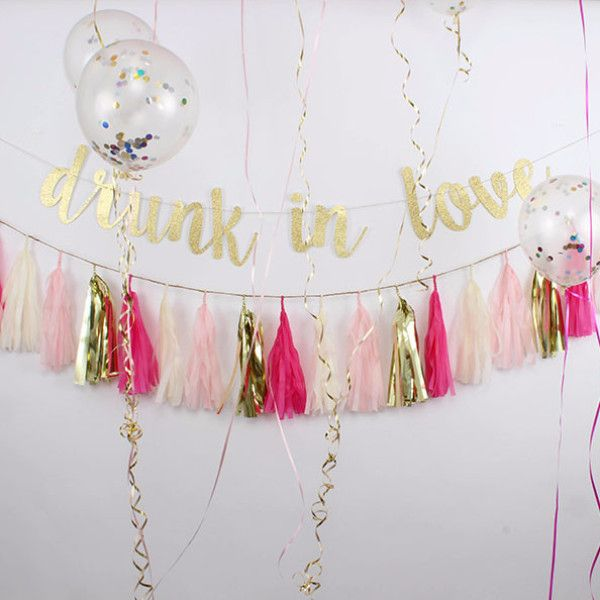 Bachelorette Party Decor - Drunk in Love Banner