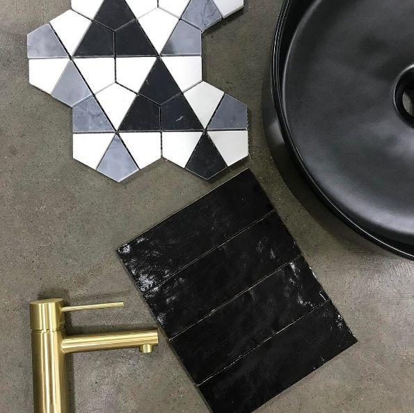 37 best Vivid Slimline Tapware Collection images on Pinterest Au - badezimmer fliesen ideen schwarz weiß