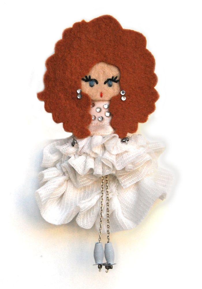 Пастора Солер # # Войлочные куклы фибула кукла # # пользовательские куклы минимальных