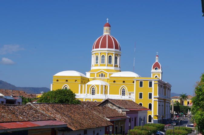 Day Trip to Granada City in Nicaragua from Guanacaste One this day trip to Nicaragua, you will be able to visit the Masaya Volcano, one of the most active volcanoes in the region and buy a souvenir at the Masaya Handcraft Market. Enjoy acity tour in the Colonial Granada City that willtake you back in time andembark ona boat ride around Las Isletas at the Nicaragua Lake.Enjoy a sightseeing tour of Nicaragua on this full-day trip to Catarina, Masaya Volcano and Granada city ...