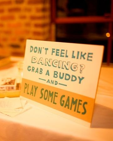 Have Board Games At Wedding For People Who Dont Dance