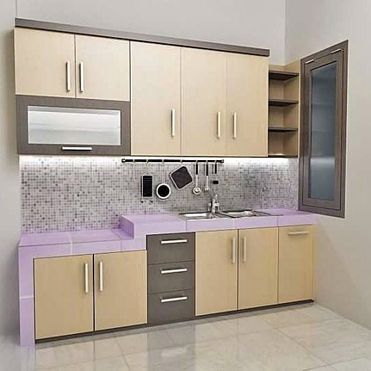 Contoh kitchen set sederhana dapur minimalis idaman for Kitchen cabinets sets