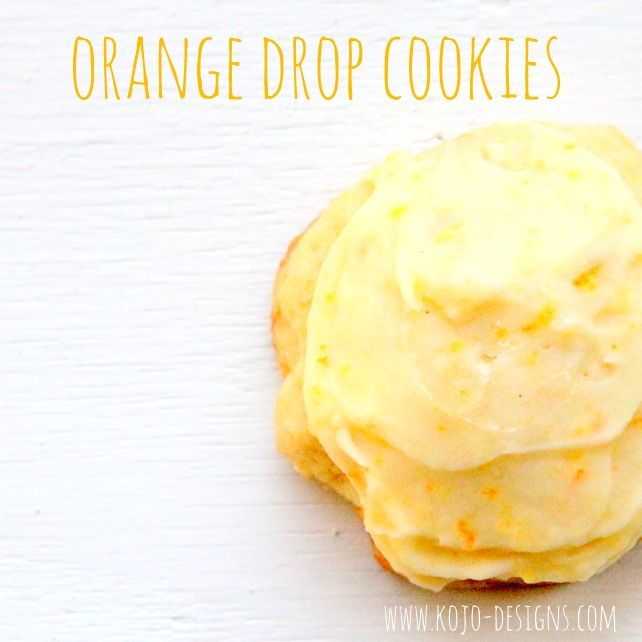Orange Drop Cookies 2/3 c. shortening 3/4 c. sugar 1 egg 1/2 c. freshly squeezed orange juice 2 T. grated orange rind 2 1/3 c. flour 1/2 t. baking powder 1/2 t. baking soda 1/2 t. salt DIRECTIONS- Mix the shortening, sugar, and egg. Mix in the orange juice and rind. In a separate bowl, mix the remaining (dry) ingredients and then gradually add to the rest of the batter. Bake at 375 for 6-8 minutes on an ungreased cookie sheet. Icing: 2 1/2 T. butter, softened 1 1/2 c. powdered sugar 1 1/2…