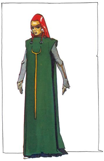Moebius #Dune - Lady Jessica - Paul's mother, Duke Leto's concubine, natural daughter of Baron Harkonnen, belongs to the higher order of the Bene Gesserit.