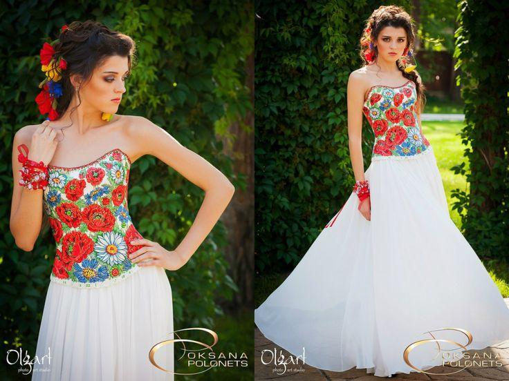 Свадебное платье в национальном стиле