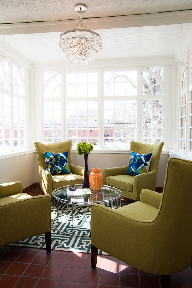 Like my sunroom with all the windows, like the idea with the chairs