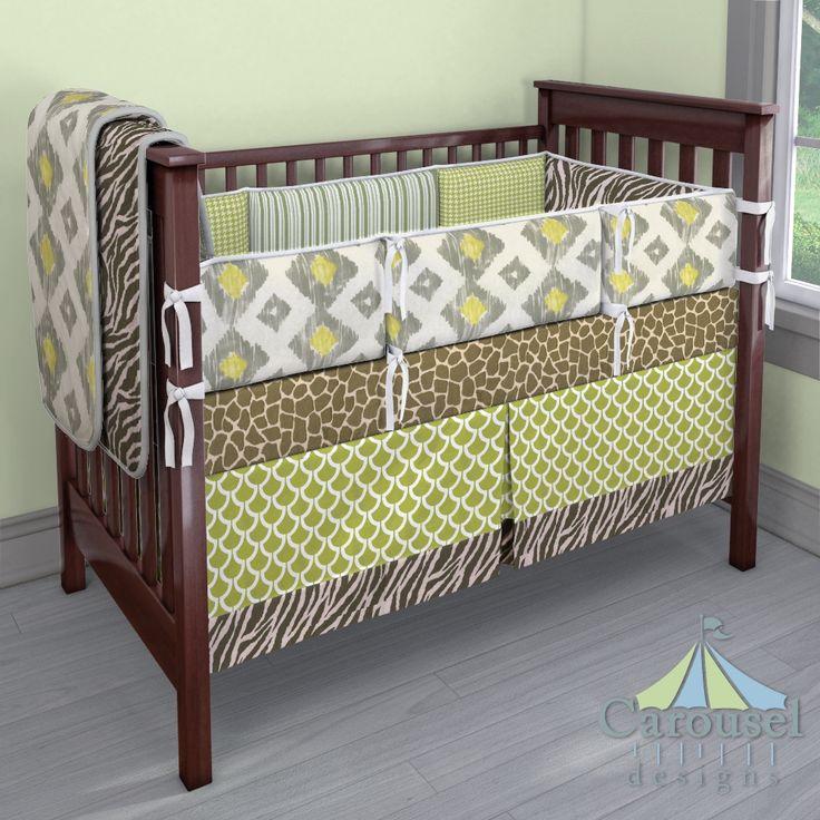 Crib Bedding In Giraffe Minky Kiwi Billow Pink And Brown