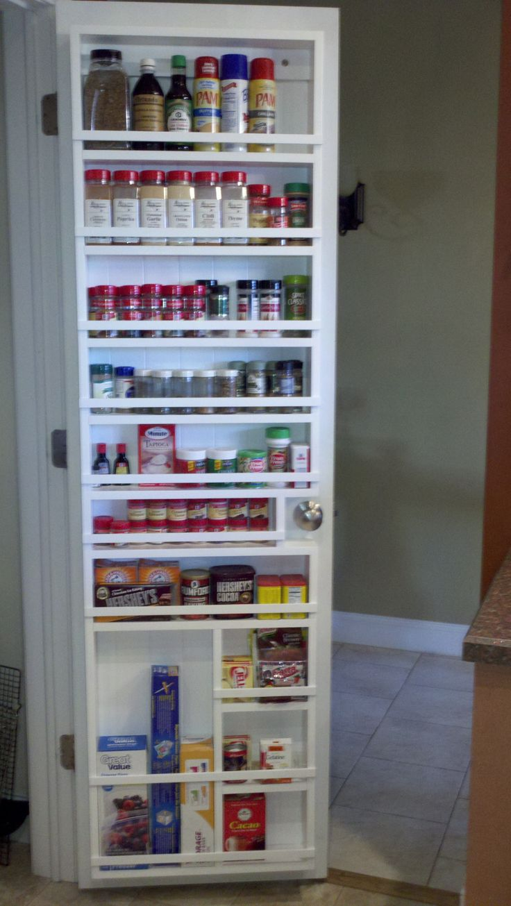 My husband made this for me. Great pantry spice rack! Now to get organized everywhere else!