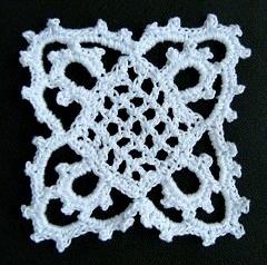 Crochet Venetian lace motif pattern
