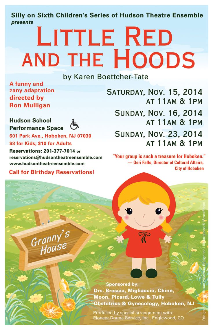 Poster design pinterest - Little Red And The Hoods Coming To Hoboken Soon For Kids Poster