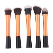 NUOVO! professionale 5 pz Spazzola di Trucco strumenti Make-up Toilette Kit Lana Marca Make Up Brush Set pincel maleta de maquiagem(China (Mainland))