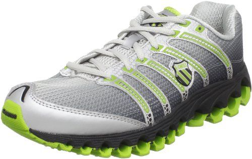 K-Swiss Men's Tubes Run 100 Running Shoe,Black Fade/Bright Green,10.5 M US Full length TUBES technology. Durable Aosta II rubber outsole. Anatomically correct flex grooves. Breathable mesh upper. k-EVA midsole compound. Cushioning and stability are reinforced by TUBES technology in this running shoe from K-Swiss.. Stay-Tied Laces.  #K-Swiss #Shoes