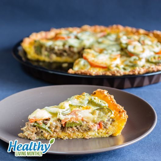Tasty Taco Pie from the October 2015 issue of Healthy Living Monthly newsletter: https://gum.co/sOvPr