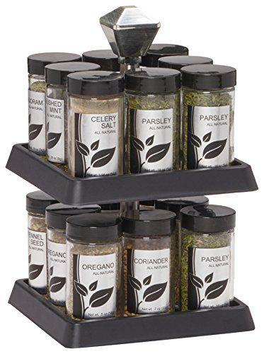 Kamenstein Madison 16-Jar Revolving Spice Rack with Free ...