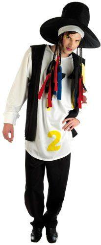 80s Culture Club Boy George Mens Fancy Dress - L (Chest 42-44in)