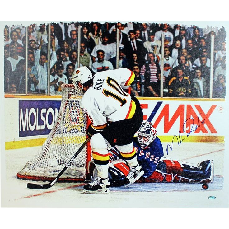 Steiner Sports New York Rangers Mike Richter vs. Pavel Bure Signed Canvas Wall Art, Multicolor