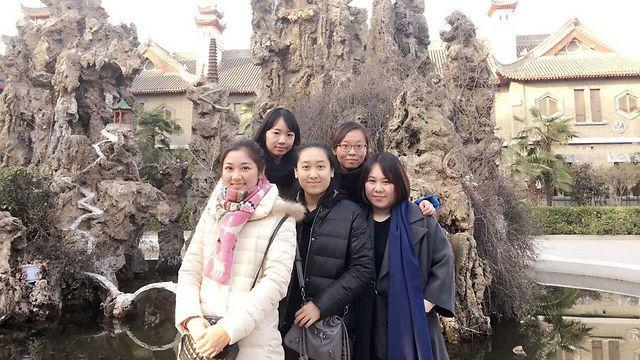 The 5 Chinese women from Kaifeng making aliyah (Photo: TPS)