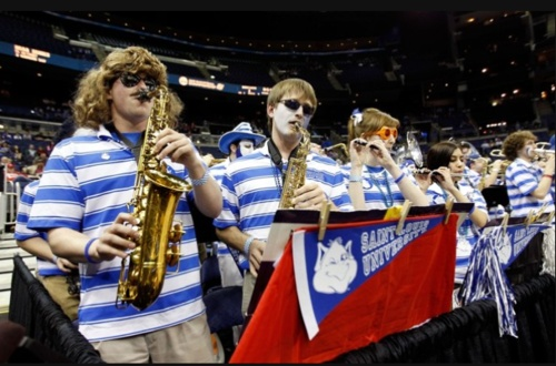The best damn band in the land - The Saint Louis U. pep band.