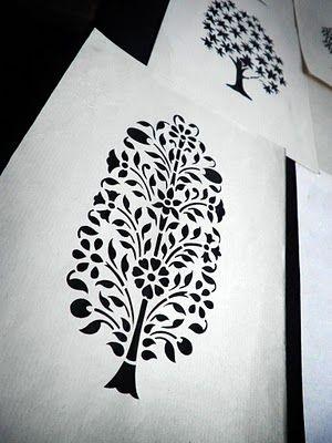 Sanjhi art ( paper cutting art from Uttarpradesh) - India