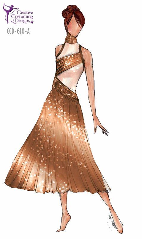 CCD-610-A  DESCRIPTION: dress with built in square cut briefs, back torso is solid color, zipper back BASE PRICE: $124.50