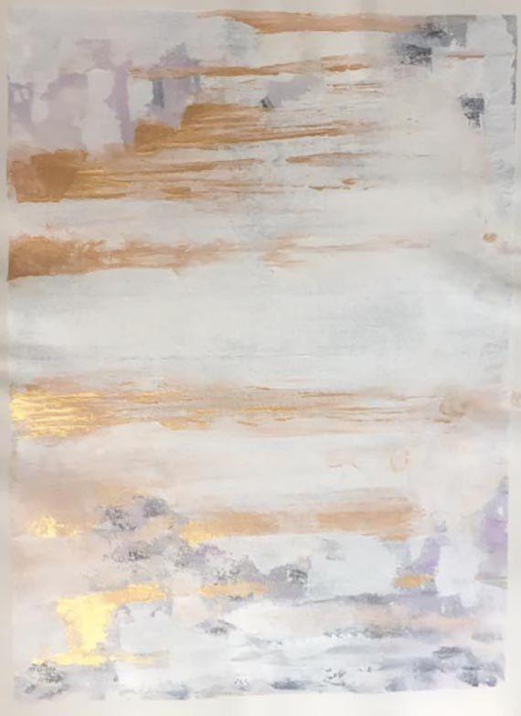 Pintura oro Resumen lona impresión abstracta por BreFrandsenStudio