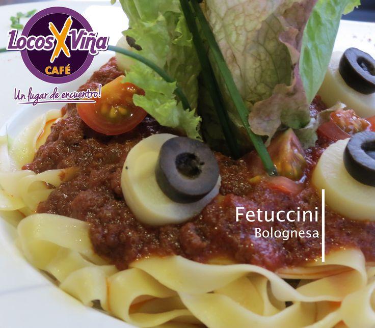 Disfruta de los mejores fetuccini bolognesa en Locosxviña
