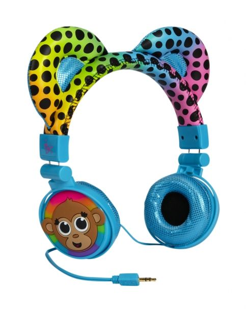 Just For Girls Toys : Monkey critter headphones girls tech accessories room