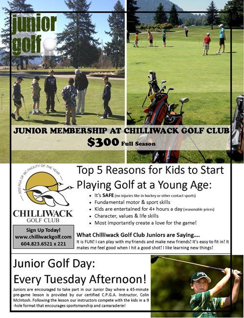 Chilliwack Golf Club - Chilliwack BC - Promotions