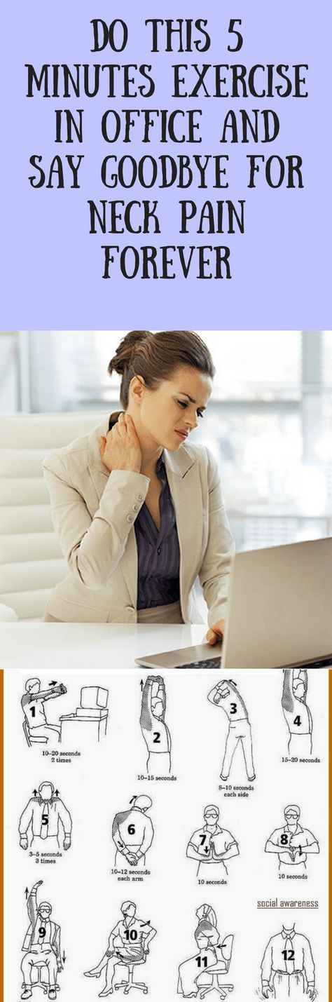 DO THIS 5 MINUTES EXERCISE IN OFFICE AND SAY GOODBYE FOR NECK PAIN FOREVER – BODY FIT IDEAS