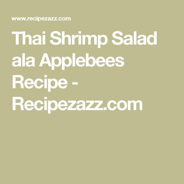 Thai Shrimp Salad ala Applebees Recipe - Recipezazz.com