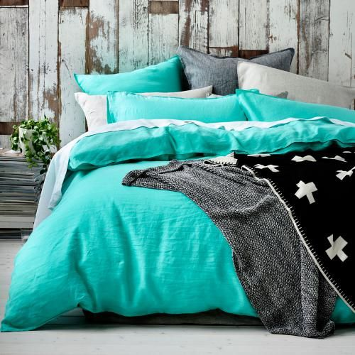 I want this quilt cover in every colour! Home Republic - Vintage washed linen