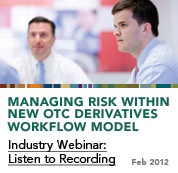 http://www.sungard.com/enterpriserisk    2012 survey of Risk Management trends and methods.  Survey doc.pdf  Managing Risk Within New OTC Derivatives Worklow Model