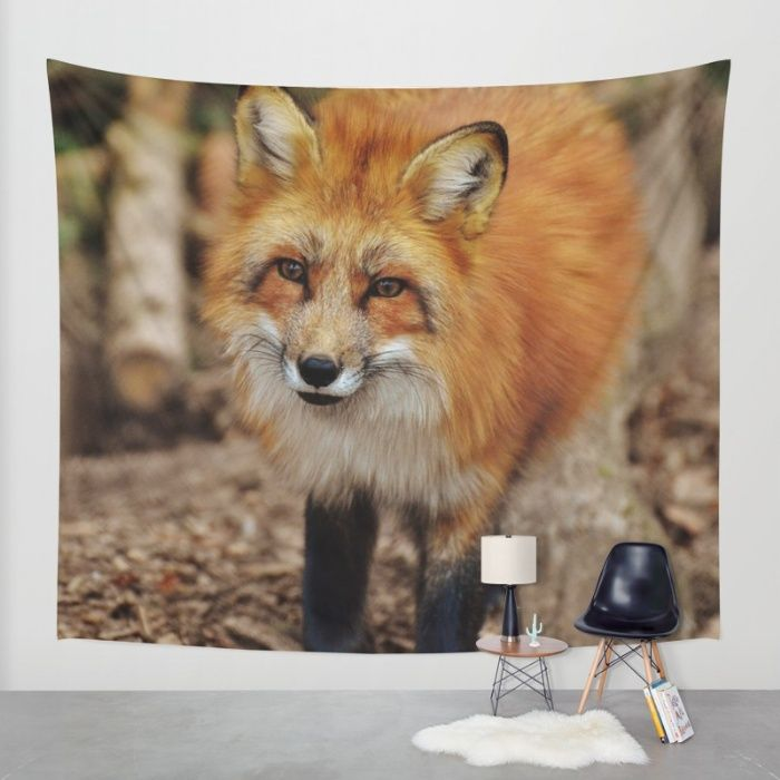 Fox Wall Tapestry by Mixed Imagery   Society6