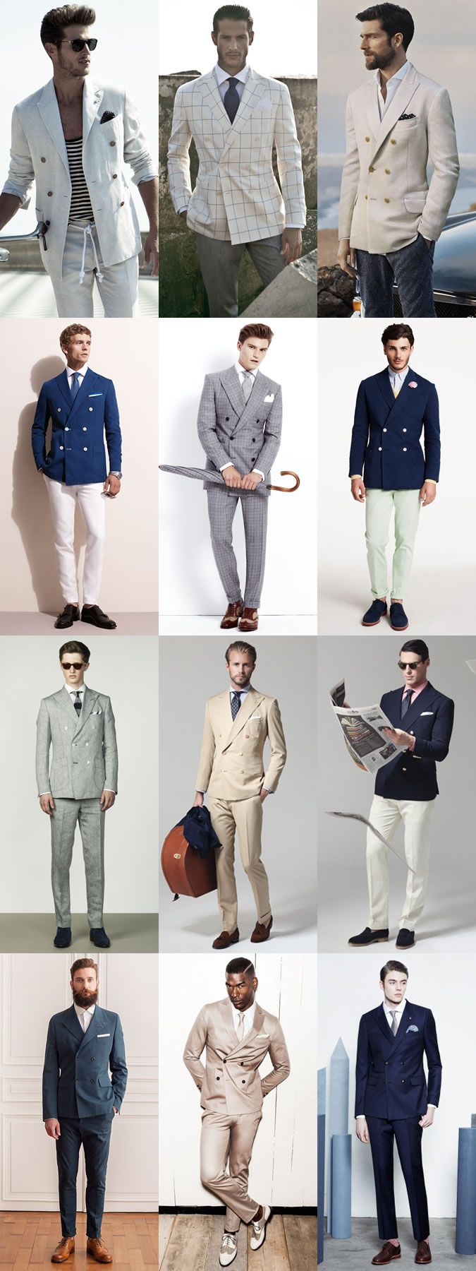 Men's 2014 Spring/Summer Fashion Trend: Double-Breasted Tailoring Modern Lookbook Inspiration