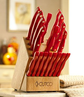 Our Homemaker +8 Set's gone red!!!!   I gotta have this !!!   I love my Cutco...but this RED is for ME now !!!