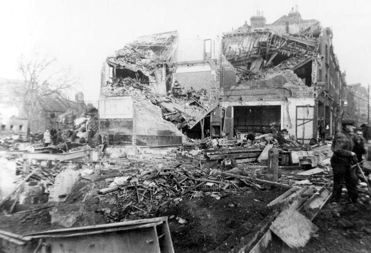 Aftermath of the V2 bombing of Woolworth's at New Cross in November 1944 #WW2