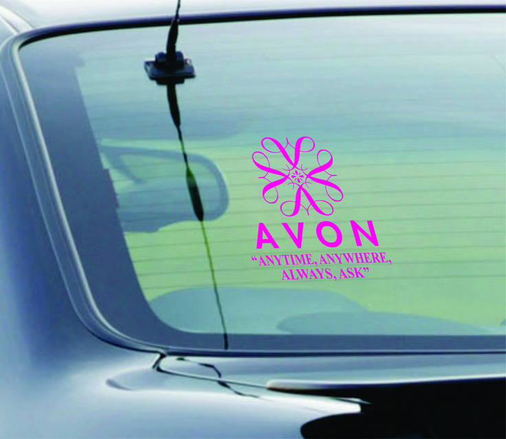 Here is a new avon window decal of avons iconic 4a logo avon window decal