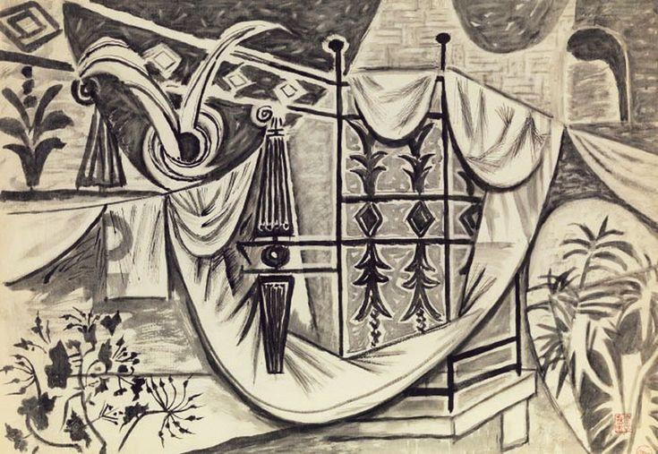 Απλωμένα ρούχα σε μπαλκόνι. Βλ. paletaart. Πηγή: www.lifo.grΑφιέρωμα στο Νίκο Χατζηκυριάκο-Γκίκα. | ΣΑΝ ΣΗΜΕΡΑ | PLUS | Θέματα | LiFO