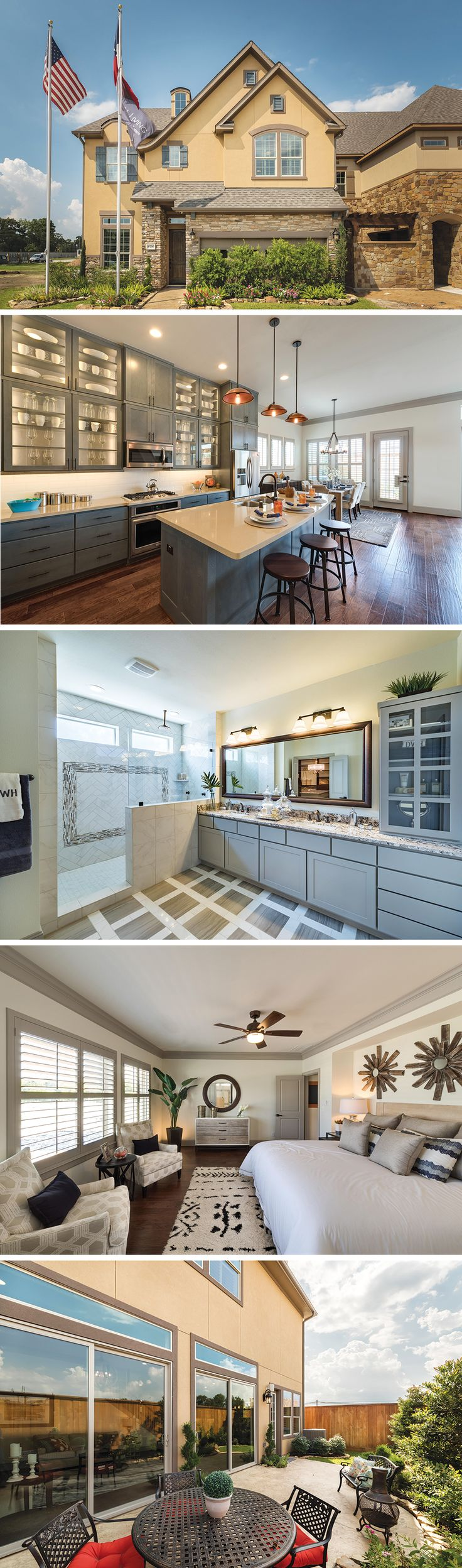 The Wickham by David Weekley Homes in Westview Manor is a floorplan that features wood floors in all shared rooms, an open kitchen and family room layout and an owners retreat with a large bathroom and walk-in closet.
