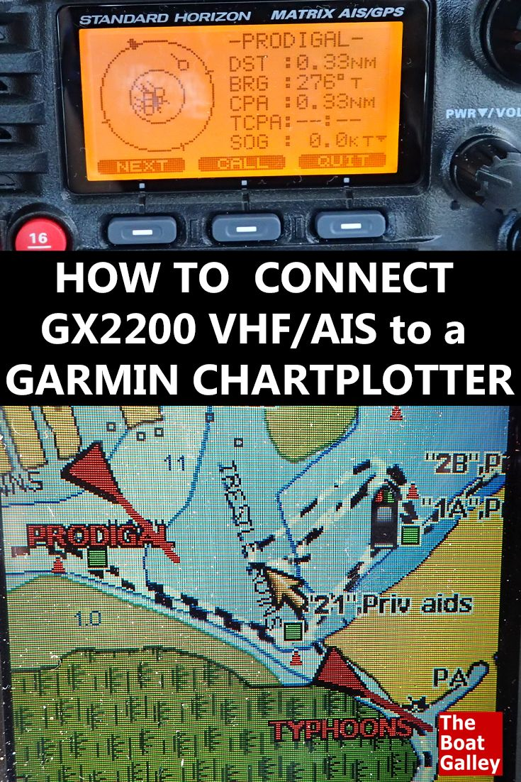 How to connect a Standard Horizon GX2200 VHF with GPS and AIS receiver to a Garmin chartplotter. Wiring and device settings. via @TheBoatGalley
