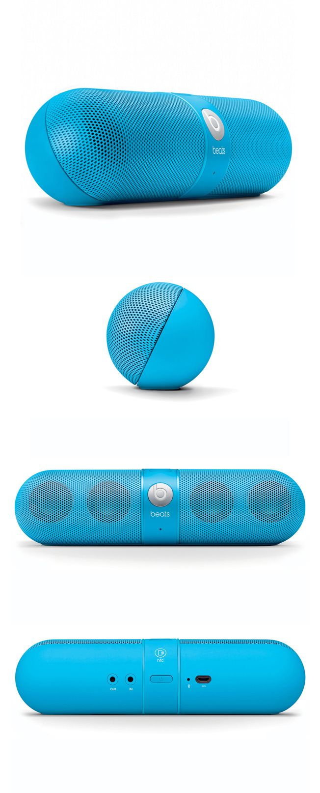 Beats Pill Neon Blue by Beats by Dr. Dre #productdesign