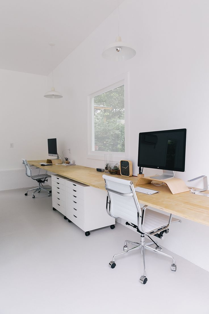 white + minimal creative workspace studio | interior design + decorating ideas