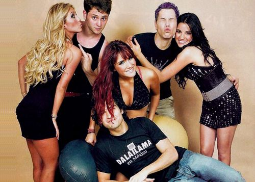 RBD, mexican band, to photoshoot, 2008
