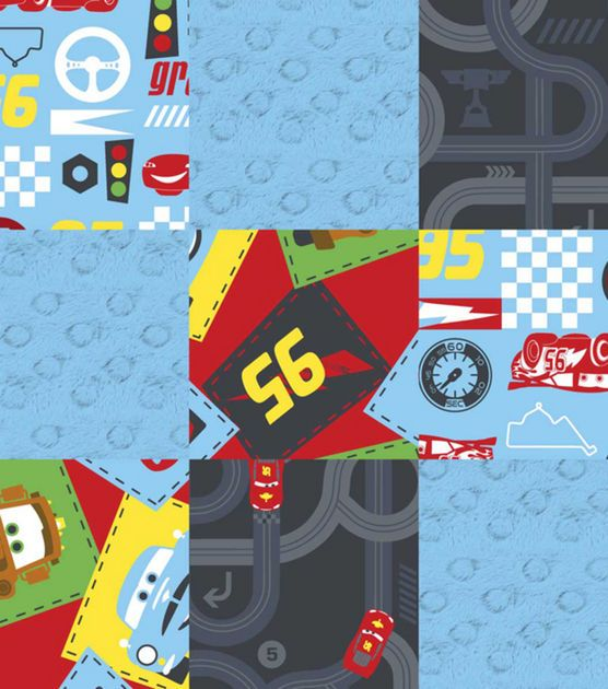 Nursery Fabric-3D Cars Junior Junction Patch, , hi-res