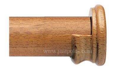 Opus 35mm Wood Curtain Pole Recess Brackets Oak