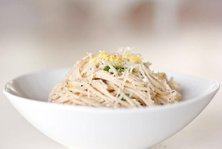 keep it simple, keep it fresh: Gluten Free Lemon Basil Pasta.  Mine and Xander's favorite summer dish!