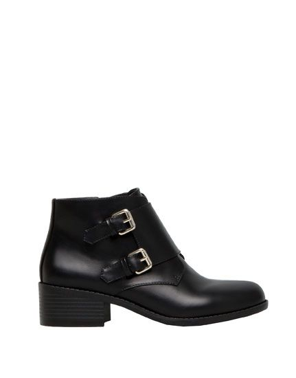 ANKLE BOOTS WITH BUCKLE DETAIL WOMEN'S FOOTWEAR - WOMAN PULL&BEAR Israel