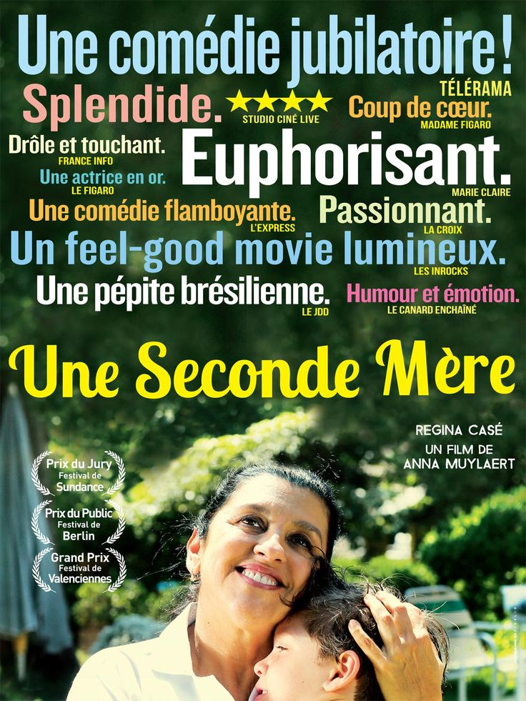 Une seconde mère est un film de Anna Muylaert avec Regina Casé, Michel Joelsas. Synopsis : Depuis plusieurs années, Val travaille avec dévouement pour une famille aisée de Sao Paulo, devenant une seconde mère pour le fils. L'irruption de Jes