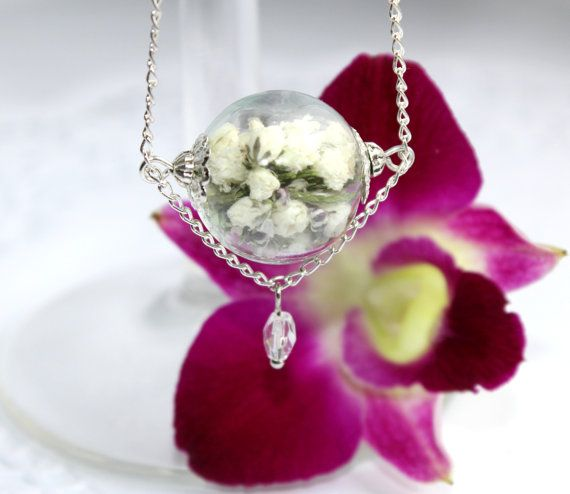 Handmade white green jewelry made of real от SweetyLifeShop, $19.90