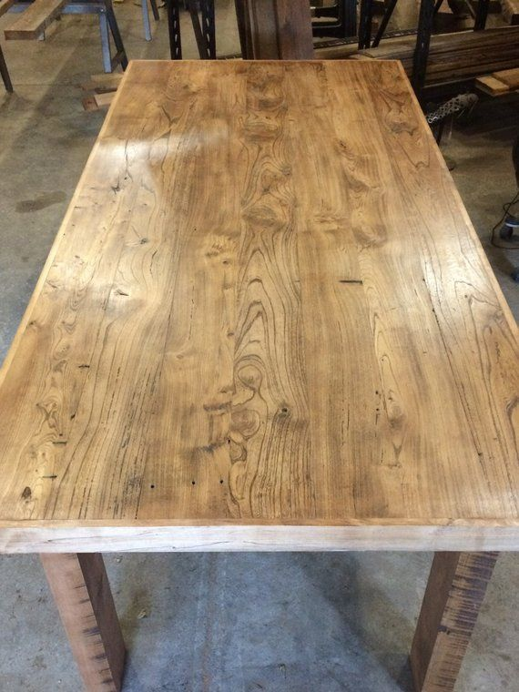 A Beautiful Reclaimed Elm And Maple Dining Table This One Of A